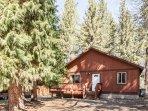 Cabin backs stream &  national forest