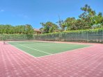 Play a game of tennis on the championship courts.