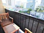 Chair, Furniture, Balcony, Bench, Railing