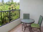 There are ocean and jungle views from the lanai.