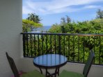 The small dinette on the lanai is a perfect place to enjoy the view with your coffee or cocktails.