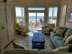 Beautiful beach views from our fully remodeled dining and living room.