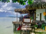 Lliving above the lagoon