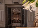 Enjoy the warmth and glow of an authentic gas fire.