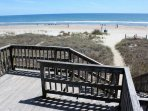 Beach access and deck