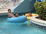 Lazy river - one of the many pool areas in the resort!