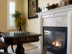 Game Table by Fireplace