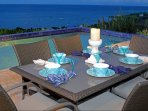 Dine Al Fresco at the pool terrace with meals you create or hire a private chef for special dining.