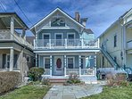 This lovely home is located in a historic neighborhood lined with 19-century homes, just a half-block from the beach.