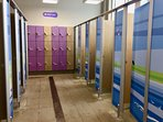Dressing rooms in the new pool complex