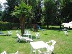 Communal garden with playground for the children