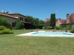 The Pigeonnier Pool, two pools to choose from and no children!