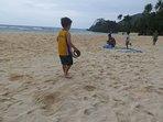 Beach activities .