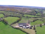 Aerial view of house and the surrounding New Forest