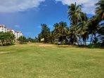 The ocean golf course.
