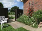 Securely fenced garden - if you have a dog or young children.