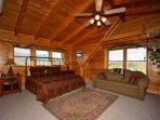 Upstairs Master King Suite has everything you need ~ TV, Private Bath, Jacuzzi tub