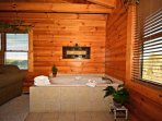 Master Suite Jacuzzi tub just another place to unwind and relax.