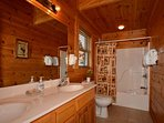 Master Suite Double Vanity with Tub/Shower Combo