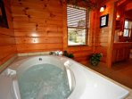 Master Suite Jacuzzi tub with Private Bath with Tub/Shower Combo