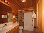 Bunk Room Private Bath with Tub/Shower Combo