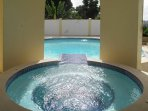 The villa has not one but two pools for you to 'cool off'