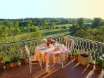 The big terrace overlooking the park. Perfect for dinner!