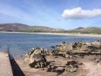 View of Ventry Beach from the pier