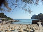 Cala Molins Beach, Cala San Vicente only three minutes walk away