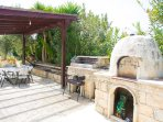 Terrace area with BBQ and outdoor kitchenette