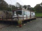 'Yr Onnen', comfortable 2 berth caravan.