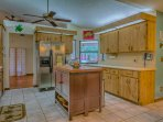 SS appliances and all the cookware and utensils you will need.  Even a pass through to the Lanai.