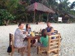 Beachfront dinning.