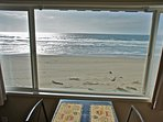 Sit at the oceanfront window and watch the waves