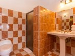 All three baths are similar, tile with good fixtures and showers.