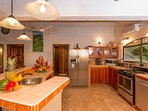 Kitchen with quality appliances. Well stocked with utensils for up to ten people.