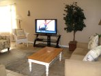 Family room features 46 inch HDTV, DVD player, 175+ videos, many of them kid's videos