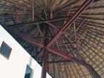 Charpente de la grande case à étages (plus de 12m de hauteur)