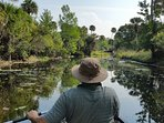 A lazy paddle down the Loxahatchee River in Riverbend Park, perfect day! Rent a Canoe at the park.