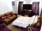 Livingroom #2, Downstairs, Queen Sofa Bed