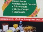 notre offre petit dejeuner avec un large choix de premiere fraicheur des 07H DU MATIN