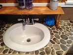 Petosky Stone sink and shower