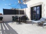 Gîte de Lézerdot - terrasse de 20 m2 côté sud