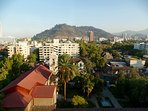 Cerro San Cristobal as seen from the balcony
