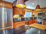 Upgraded gourmet kitchen to cook up your favorite meals.