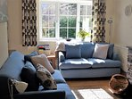 Garden Cottage living room with views of Borrowdale