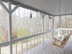 The front porch is a great place to drink a coffee and enjoy the sounds