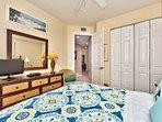 Queen Bedroom with TV; Fan!