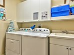 Private Laundry Room with Washer/Dryer