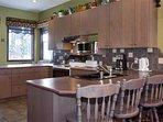Upper Kitchen with Breakfast Bar